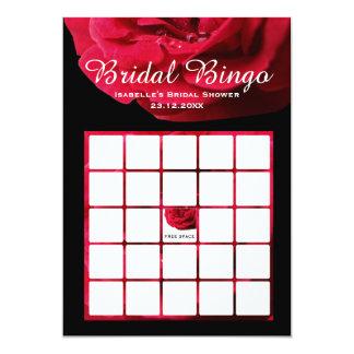 Bingo nupcial subió invitación 12,7 x 17,8 cm