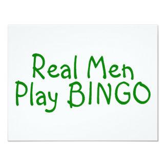 Bingo real del juego de los hombres invitación personalizada