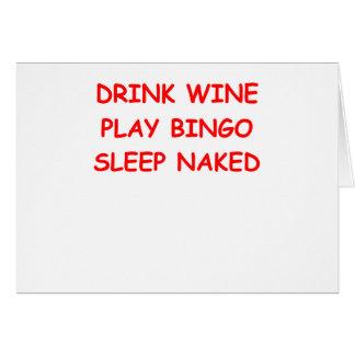 bingo tarjeta de felicitación