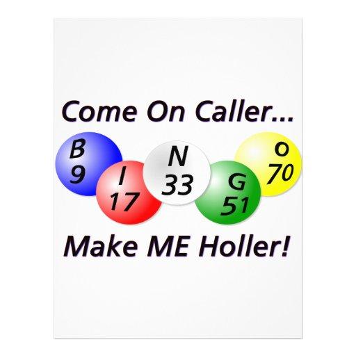 ¡Bingo! ¡Venido en visitante, haga que Holler! Tarjetón