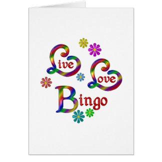 Bingo vivo del amor tarjeta de felicitación