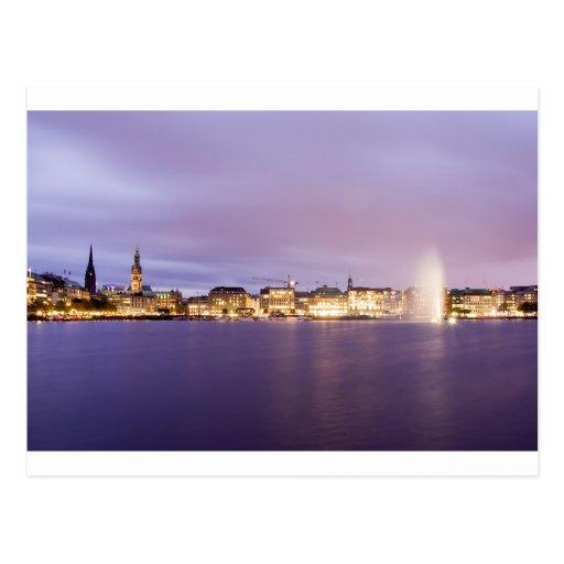 Binnenalster en violeta tarjetas postales