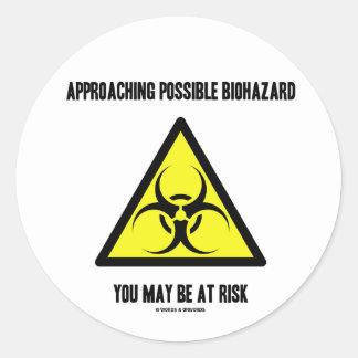 Biohazard posible inminente usted puede ser en pegatinas redondas