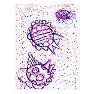 Bioluminera negativamente curvado postal