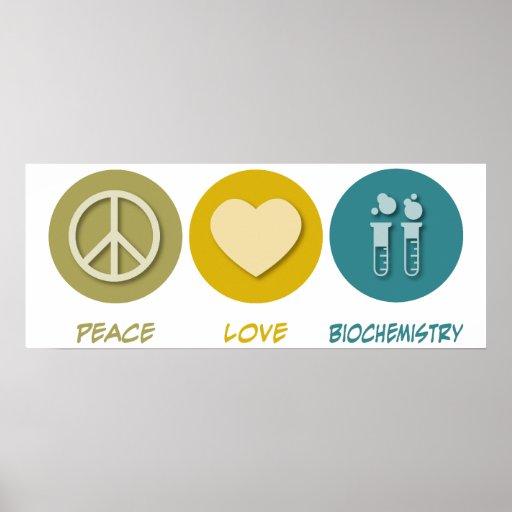 Bioquímica del amor de la paz posters