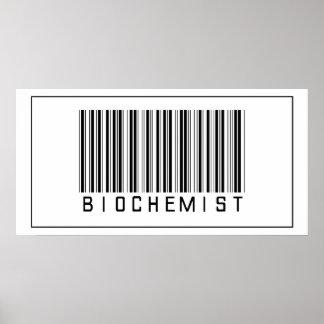 Bioquímico del código de barras impresiones