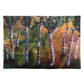 Birch Forest Placemats Cloth Placemat