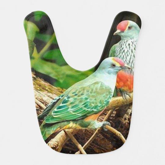 Bird green _babero babero para bebé