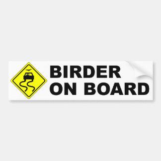 Birder a bordo pegatina para coche