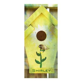 Birdhouse de Shirley Taylor Tarjeta Publicitaria