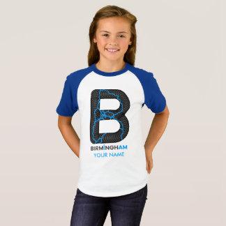 Birmingham soy camisa del raglán