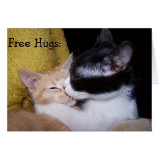 Birthday Card: Sweet Kittens de Hugs give free! Tarjeta De Felicitación