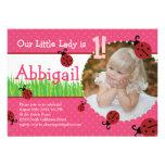 Birthday de pequeña señora - mariquitas anuncio personalizado