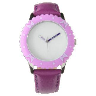 Bisel ajustable, reloj púrpura del acero