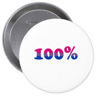 Bisexual del 100 por ciento pin