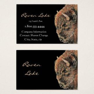 Bisonte negro con clase, tarjeta de visita del