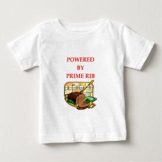 bistec de costilla camiseta de bebé