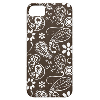 Bistre Brown Paisley iPhone 5 Fundas