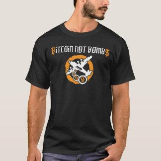 Bitcoin no bombardea la pintada - camiseta negra