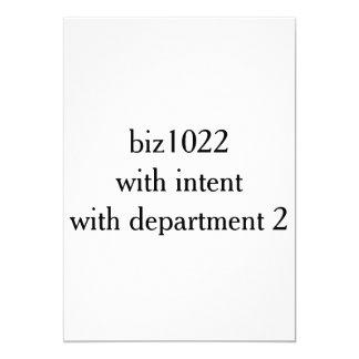biz1022 con el intento department2 invitación 12,7 x 17,8 cm