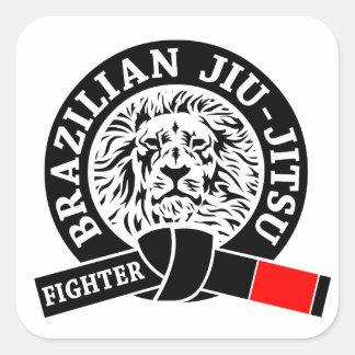 BJJ - Brasilen@o Jiu - Jitsu Pegatina Cuadrada