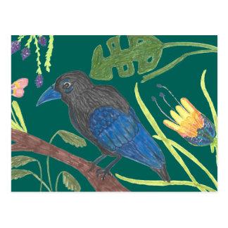 Black & Blue Bird of Paradise Postal