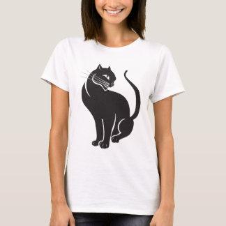Black cat camiseta