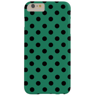 Black polka dots in green funda barely there iPhone 6 plus