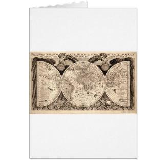 black&white original latino del mapa del mundo tarjeta de felicitación