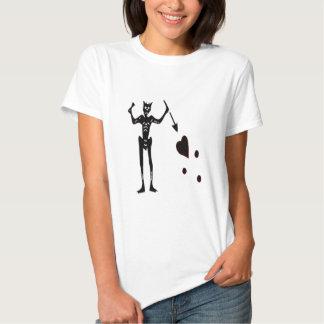 Blackbeard-Negro Camiseta
