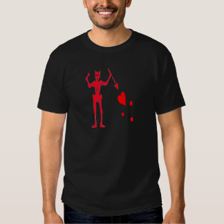 Blackbeard-Rojo Camisetas