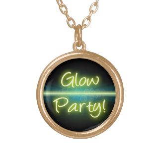 Blacklight amarillo/verde del fiesta del resplando grimpolas personalizadas
