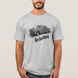 Blacktop de dos calles '55 Chevy Camiseta