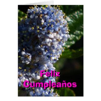 Blancas de los azules y de Feliz Cumpleaños - de Tarjeta De Felicitación