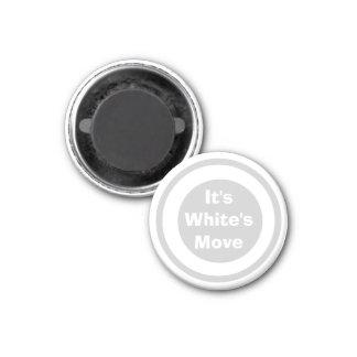 Blanco 1-1/4 del marcador del ~TAG~ de los inspect Imán Redondo 3 Cm