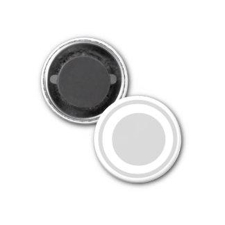 Blanco 1-1/4 del pedazo del ~TAG~ de los inspector Imán Redondo 3 Cm