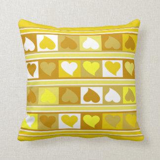 Blanco amarillo del moreno enrrollado de los cojín decorativo