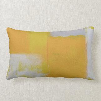 blanco amarillo gris de la pintura abstracta cojín lumbar