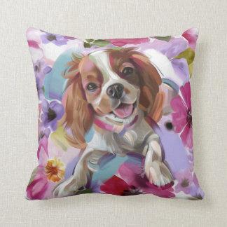 Blanco arrogante de la almohada del arte del perro