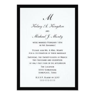 Blanco asequible de la invitación de la recepción invitación 12,7 x 17,8 cm