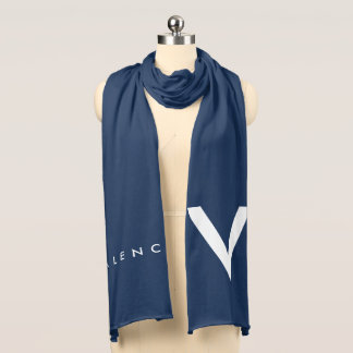 """Blanco/azul de la bufanda de Valencia """"V"""""""