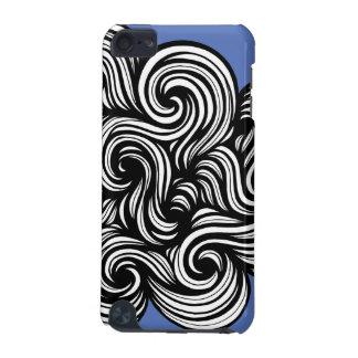 Blanco azul de la expresión abstracta de Baruffi Funda Para iPod Touch 5G