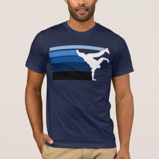 Blanco azul de la pendiente de BBOY Camiseta