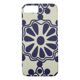 Blanco azul del modelo mexicano elegante rústico funda iPhone 7