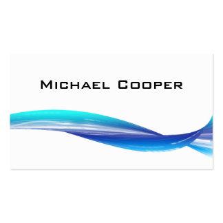 Blanco azul profesional de la tarjeta de visita de