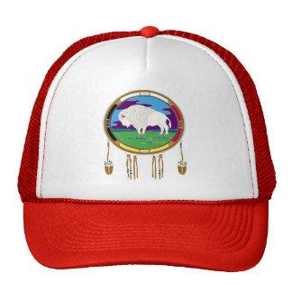blanco-búfalo-t-camisa gorras de camionero