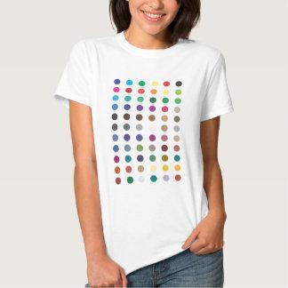 Blanco cabido camiseta de los puntos