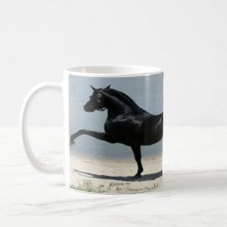 blanco, clásico, de encargo, taza, caballo, abrigo taza de café