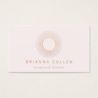 Blanco color de rosa elegante del estético del tarjeta de negocios
