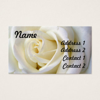Blanco color de rosa, tarjeta del perfil